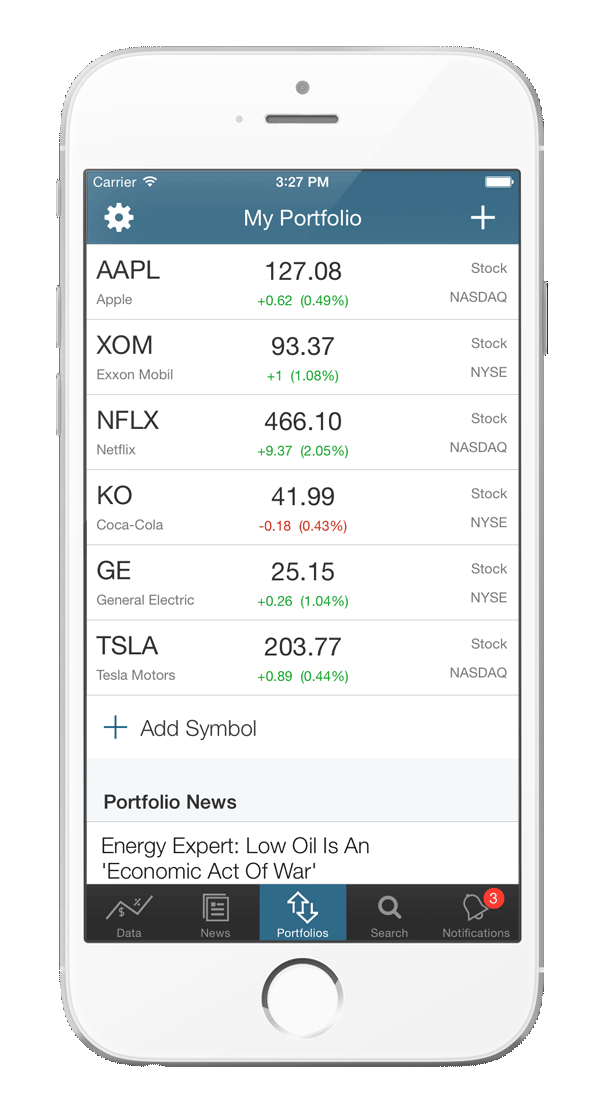 Benzinga for iOS